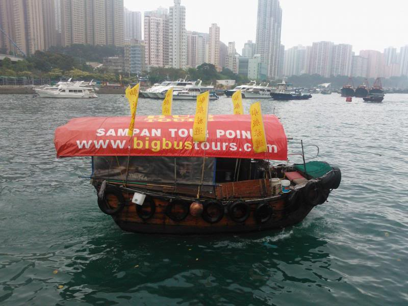 Big Bus tours Sampan Boat