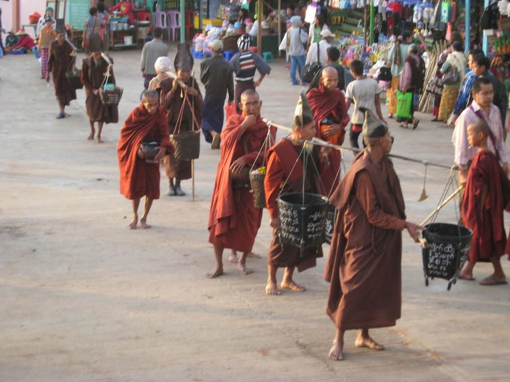Monks at Golden Rock Kinpun