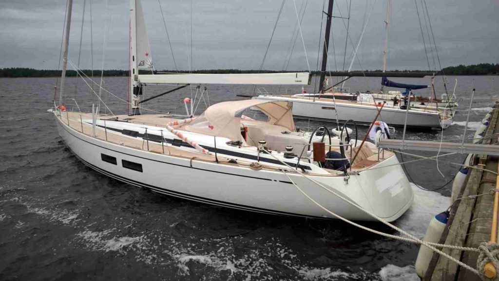 New boat delivery swan 54ft