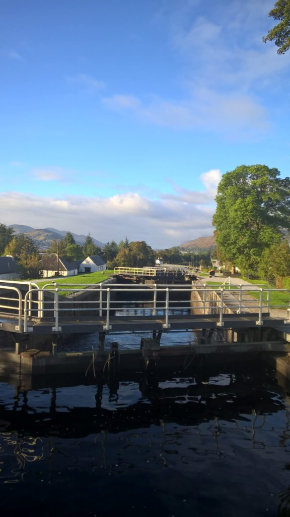 Neptunes staircase Caledonian canal